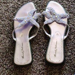 Beverly Feldman lavendar sandals